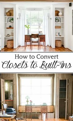 How to Convert Closets to Built-In Shelves: A step-by-step tutorial for converting closets into built-in shelves