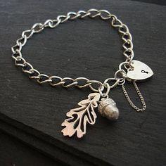 Oak And Acorn Charm Bracelet