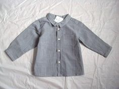 Boy's Baby Bonpoint Boutique Plaid Check Cotton Pocket Chemise Shirt $130 6M | eBay