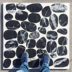 Terrazzo tiles made with big marble pebbles are ready to leave! Designed by It is a 😉😉😃😃
