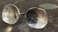 Kreis Silber Ohrringe von Designvonmerrill auf Etsy