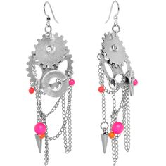 $16.99 #piercing #steampunk #neon Handcrafted Mechanical Gears Steampunk Earrings MADE WITH SWAROVSKI ELEMENTS