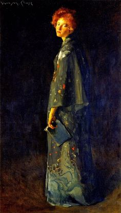 William Merritt Chase(1849ー1916)「Girl with a Book(also known as A Girl)」(1902)