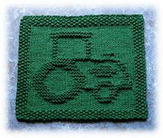 Ravelry: John's Tractor Dishcloth pattern by Rachel van Schie Knitting Squares, Dishcloth Knitting Patterns, Crochet Dishcloths, Knit Or Crochet, Knitting Stitches, Free Knitting, Baby Knitting, Crochet Patterns, Knitted Washcloths