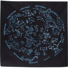 Map July August Astronomy Star Chart Vintage Constellations