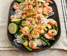 Pad Thai noodle salad with zingy peanut dressing By Nadia Lim Thai Noodle Salad, Pad Thai Noodles, Thai Beef Salad, Thai Salads, Lunch Recipes, Seafood Recipes, Vegetarian Recipes, Cooking Recipes, Healthy Recipes
