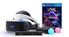 The complete PlayStation VR bundle includes 2 Move controllers, the PSVR HMD, the PlayStation Camera, and a disc full of demos   Image: Sony