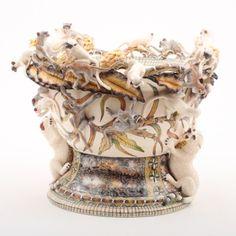 Ardmore ceramics: Monkey Leopard Planter