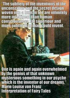 Carl Jung Depth Psychology: Marie Louise Von Franz: it is only in old age when one looks back that one sees that the whole thing had a pattern. The Power Of Myth, C G Jung, Gestalt Therapy, Humanistic Psychology, Gustav Jung, Smart Quotes, Old Age, Quotes By Famous People, A Whole New World