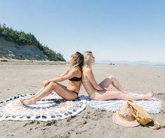 Beach Towel, Beach Mat, Round Towels, West Coast, Outdoor Blanket