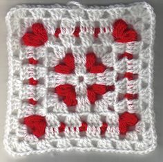 Cornered Hearts Square: Crochet some love for Valentine's Day! Get 10 free #crochet patterns for your Valentine at Moogly!