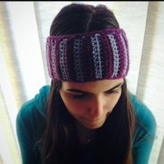 You can customize your own headband by choosing your own color and style .. Order yours now at #yarknit | #headbands #wool #darkpurple #lightpurple #picoftheday #woolworks #winterwear #fashionista #fashion #accessories #handmade #stripped #twocolors