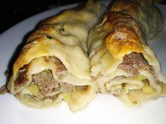 """Νόστιμη συνταγή μαγειρικής από """"Αννα Κασσανδρεια-ΑΓΑΠΑΜΕ ΜΑΓΕΙΡΙΚΗ!!!!! ΑΓΑΠΑΜΕ ΖΑΧΑΡΟΠΛΑΣΤΙΚΗ!!!!!!"""" ΥΛΙΚΑ - ΕΚΤΕΛΕΣΗ ανοίγουμε φύλλα ,η ζύμη 1 αυγό, αλάτι, χλιαρό νερό, αλεύρι. Γέμιση κιμά μοσχαρίσιο χοιρινό, 3-4 μέτρια κρεμμύδια ψιλοκομμένα, μαϊντανό η κόλιανδρο ψιλοκομμένο Pasta Recipes, Meat, Chicken, Food, Grains, Essen, Meals, Seeds, Yemek"""