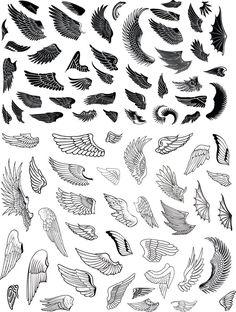 Alas k tattoo, tattoo wings, wing tattoo designs, angel tattoo desi Wing Tattoo Designs, Angel Tattoo Designs, Skull Tattoo Design, Dragon Tattoo Designs, Body Art Tattoos, Tattoo Drawings, Dove Tattoos, Small Wing Tattoos, Eagle Wing Tattoos