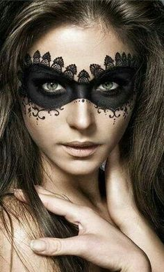 Masquerade ♥ black lace mask