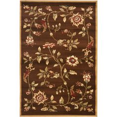 Safavieh Lyndhurst Milo Floral Border Area Rug in BLUE at WalMart