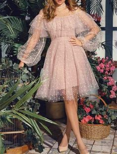 Cute Pink Short Homecoming Dresses,Princess Lace Long Sleeves Prom Dresses - Beautiful Dresses and shoeS - Fashion Dresses
