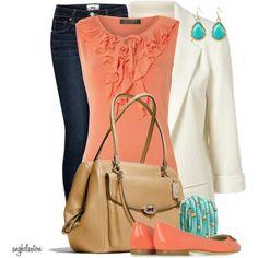 Coral Ruffle Shirt :)