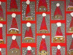 Jouluaskarteluja - www. Christmas Activities, Christmas Crafts For Kids, Xmas Crafts, Winter Art Projects, Theme Noel, Kindergarten Art, Christmas Mood, Preschool Crafts, Art For Kids