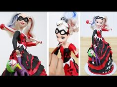 How To Make a Harley Quinn Villian Doll Cake by CakesStepbyStep