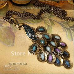 Wholesale 2013 stylish Hot sale,Peacock Necklace,Sweater chain decoration,Copper Alloy material,drop shipping E10497SL, Free shipping, $7.15-8.6/Piece | DHgate