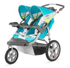 "InStep Grand Safari Double Jogging Stroller - Teal - Instep - Babies ""R"" Us"