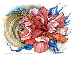 Watercolor by Irina Vinnik, via Behance