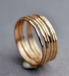 Mixed Gold Stacking Ring Set by LilyEmme Jewelry on Scoutmob Shoppe