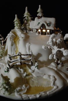 Winter house on the hill — Christmas, gingerbread house, cookie house, Christmas house christmasgingerbreadhouse Cool Gingerbread Houses, Christmas Gingerbread House, Noel Christmas, Christmas Desserts, Christmas Baking, Christmas Cakes, Dessert Party, Beautiful Cakes, Amazing Cakes