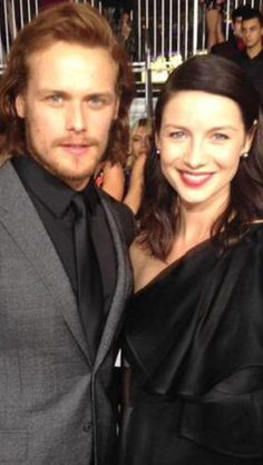 Sam Heughan and Caitriona Balffe, the leading stars from Outlander.