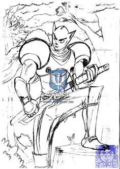 Cat ninja - Gato ninja. #samurai #ninja #nipon #sketchbook