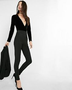 high rise extreme stretch cigarette pant