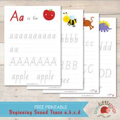 Busy Little Bugs Free beginning sound trace abcd (all letters available for free)