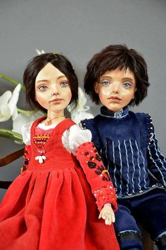 Collectible doll - Romeo and Juliet - Art doll  -  OOAK doll - Craft Dolls