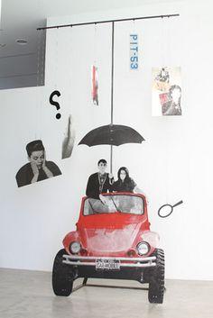 Paulina Olowska, Car Mobile, 2007-2009 installation view at the De La Cruz Collection, Miami 294 inches high (MP# 46)