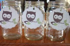 Set of 6 Extra Large Owl Tags with Green by queenofpapercards, $3.50