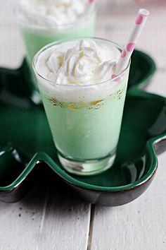 Ingredients: Vanilla Ice Cream, about 5 Quart Plastic Bucket Creme de Menthe liquor, about 3 shots Creme de Cacao liquor, about 1 shot Irish whiskey, about 1 shot