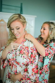 Floral Cotton Maternity robe hospital robe nursing robe