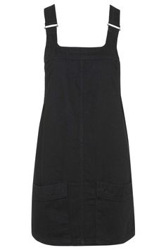 PETITE Denim Pinafore Dress - Topshop