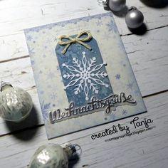 Karten-Kunst » Weihnachtsgrüße und eine Schneeflocke