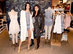 Kendall and Kylie Jenner celebrated their exclusive PacSun summer collection with an in-store appearance at the Third Street Promenade in Santa Monica, Calif.