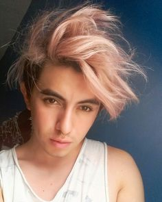 Rose Gold Men S Hair Color Hair Hair Hair Styles Mens Hair Colour