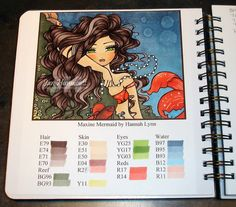 Simply Handcrafted: Hannah Lynn Maxine Mermaid - Copic Coloring Book