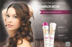 Shampoo e Condicionador W-UP para cabelos secos