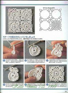 Transcendent Crochet a Solid Granny Square Ideas. Inconceivable Crochet a Solid Granny Square Ideas. Crochet Diy, Crochet Motifs, Crochet Blocks, Crochet Diagram, Crochet Chart, Crochet Squares, Thread Crochet, Crochet Doilies, Crochet Flowers