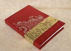 Handmade Journal Notebook  Red  Art by EarthDesignsIndia