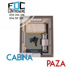 Cabina de paza.Imagine de plan. Dimensiuni: 3m Lungime x 1,9m Latime x 2,7m Inaltime. Izolata termic. Mai multe detali pe www.containere-fdc.ro/containere-cabine-paza/  #modular #modularbuilding #modularconstruction #smartbuilding #officespace #officedesign #officedesigntrends #3dmodeling #containeroffice #containeroffices #containerbuilding #modularcontainer #modularoffice #modulardesign #modulararchitecture #guardian #guardtower #safetyfirst #staysafe
