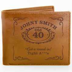 Personalised Brown Classic Whiskey Wallet  from Personalised Gifts Shop - ONLY £24.99