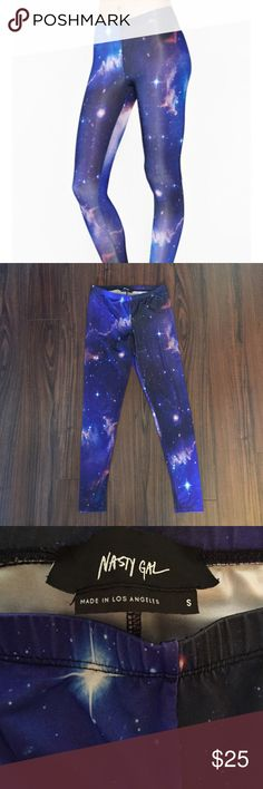 Nasty Gal Small Galaxy Leggings 🌌 Sold Out Nasty Gal Galaxy Leggings Size Small. Nasty Gal Pants Leggings