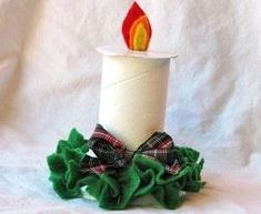 7 Adornos navideños que puedes hacer con rollos de papel higiénico ~ Manoslindas.com